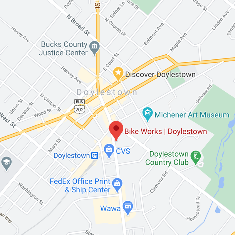 Map of Doylestown Bike Works