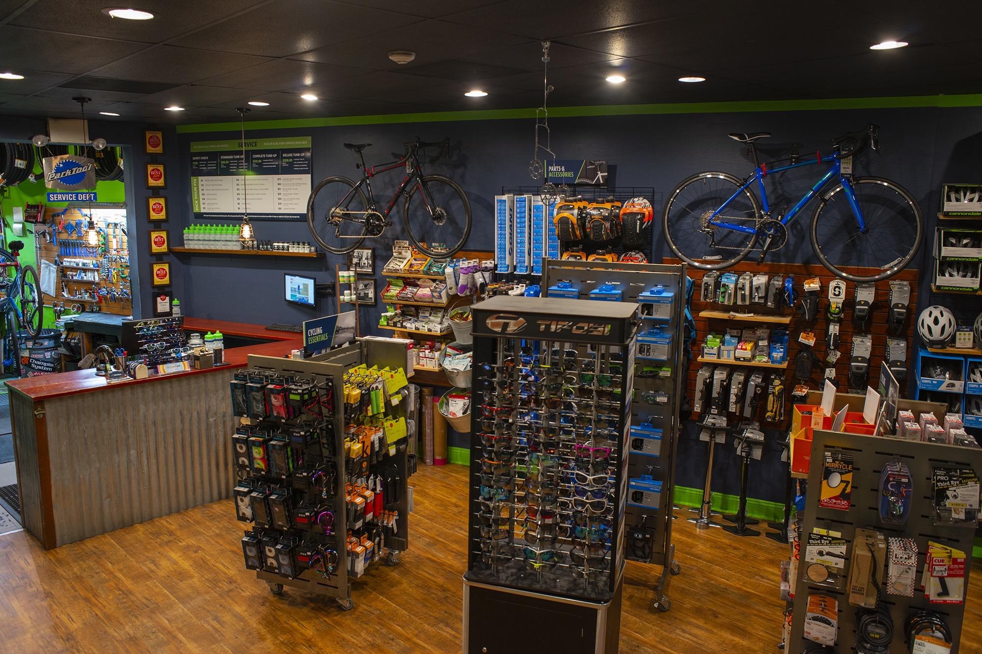 Interior of Bike Works Doylestown